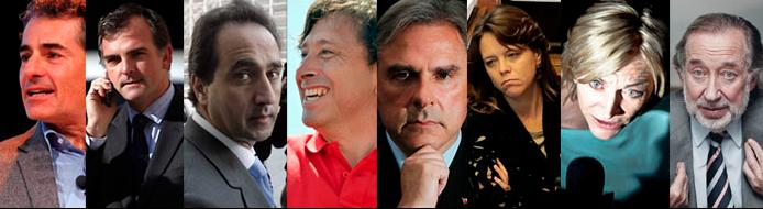 Velasco, Silva, Zalaquett, Golborne, Moreira, von Baer, Matthei y Novoa