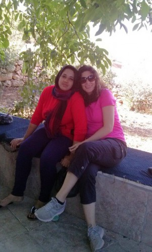 Con Fida Arar en Beit Ummar.