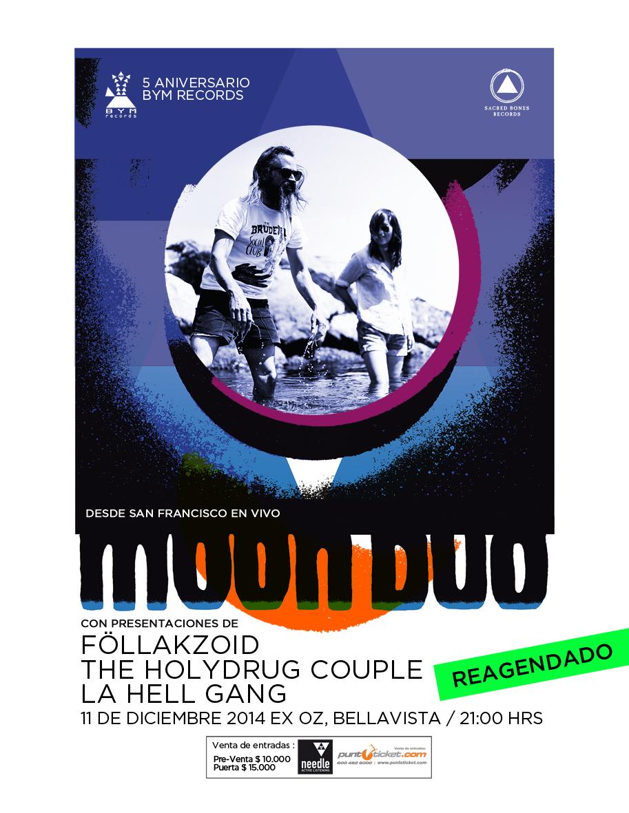 Afiche Reagendado Moon Duo