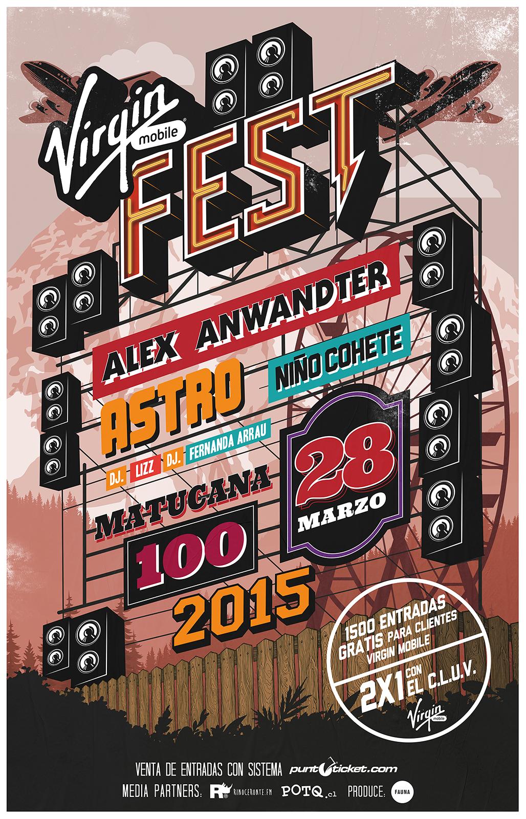 Virgin Fest afiche oficial